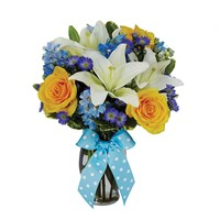 The Bright Blue Skies Bouquet (BF216-11KM)
